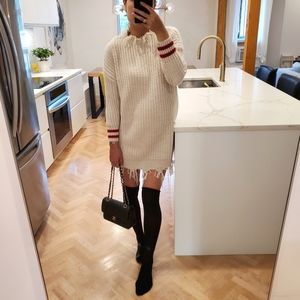 NWOT Zara Knit super chunky sweater dress